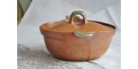 Petite casserole Sial rouille et vert céladon
