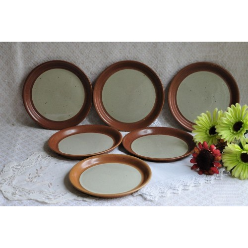 Rare Sial Stoneware 19.5 cm Salad Plates