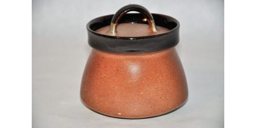 Sucrier SIAL brun foncé et rouille non signé