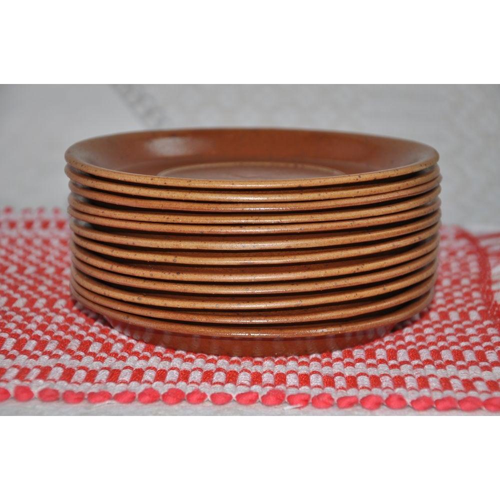 Vintage SIAL Pottery Stoneware Underplates Presentation Plates