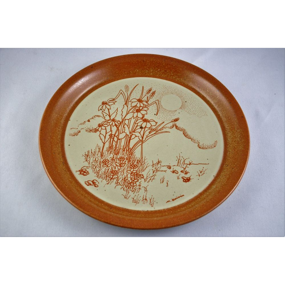 Assiette Ceramique Sial Decorative Design Signee Boivin