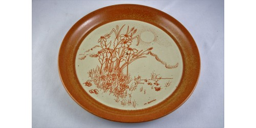 Assiette décorative Sial  à décor de fleurs des champs