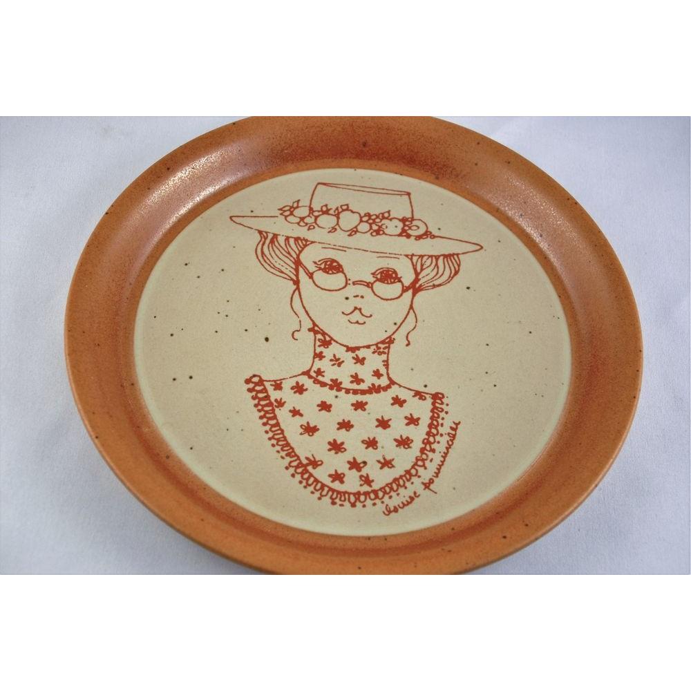 assiette d corative poterie sial murale gr s femme au chapeau louise pomminville hors s rie. Black Bedroom Furniture Sets. Home Design Ideas