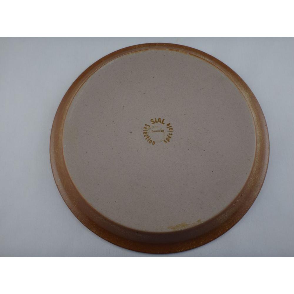 assiette d corative sial poterie gr s hors s rie s lection sp ciale sign e morrain. Black Bedroom Furniture Sets. Home Design Ideas