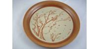 Assiette décorative Sial  à décor de feuilles d'automne
