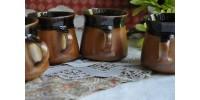 Tasses et soucoupes SIAL rouille et brun foncé