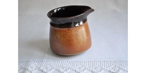 Crémier brun tenmoku SIAL Oval en grès