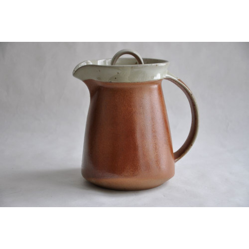 Sial Stoneware Lidded Pitcher or Chocolate Pot