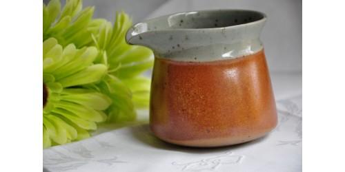 Sial Oval Grey & Rust Stoneware Creamer