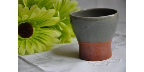 Rare Sial Oval Pottery Celadon Grey Tumbler