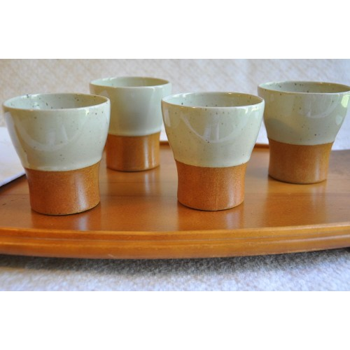 Vintage Sial Oval Large Pottery Tumblers
