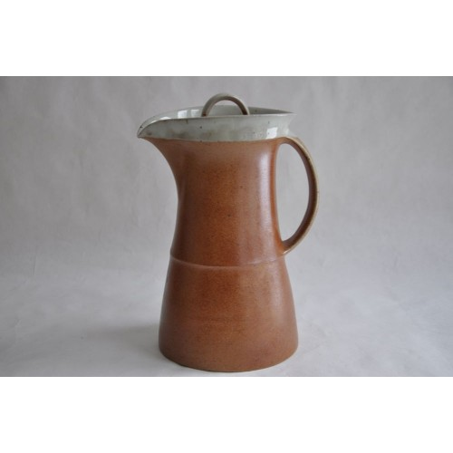 Vintage Sial Pottery Large Stoneware Coffee Pot