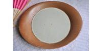 Plat ou assiette de service en grès Sial service OVAL