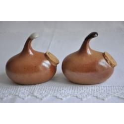 Salt and Pepper Sial Art Pottery Vintage Set
