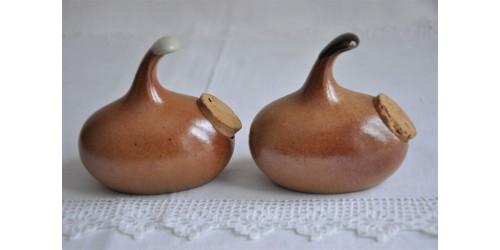 Ensemble salière et poivrière SIAL en grès