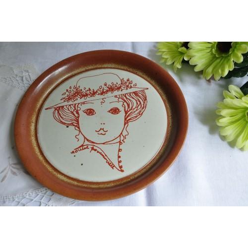 Assiette décorative Sial signée Louise Pomminville