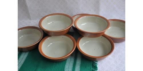 Bols à soupe/céréales rouille et blanc cassé SIAL