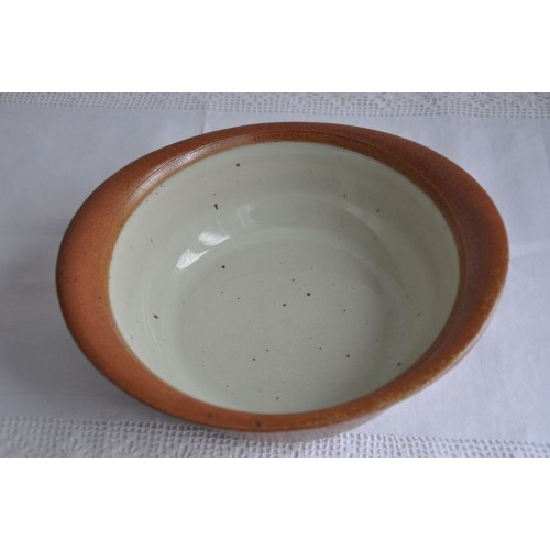 Légumier/saladier Sial Oval rouille et blanc cassé