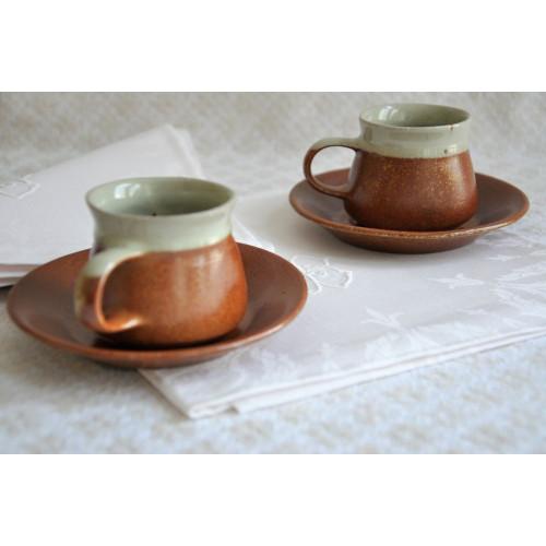 Tasses à café expresso en grès Sial