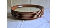 Grandes assiettes à dîner SIAL en grès 26,5 cm
