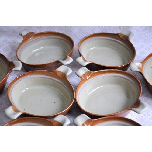 Small Sial Pottery Oval Individual Baking Dishes