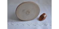 Carafe en grès blanc cassé et rouille Sial Oval