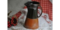Vintage Sial Two-Tone Stoneware Pitcher