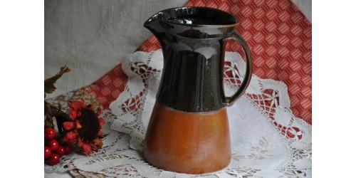 Vintage Sial Two-Tone Stoneware Pitcher