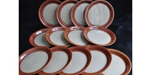 Assiettes à pain ou dessert en grès SIAL