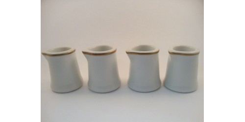 Syracuse China of Canada Small Coffee Creamers