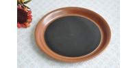 Assiette à lunch brun tenmoku en grès SIAL
