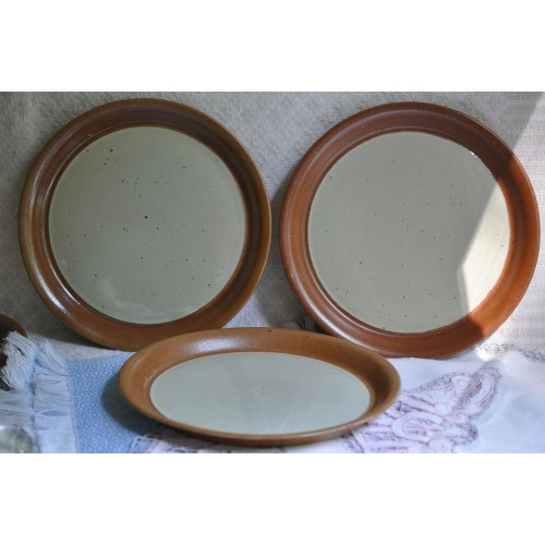 Sial Stoneware Rare Large Dinner Plates