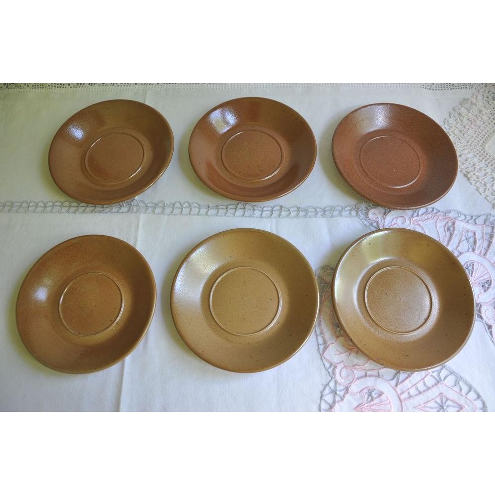Vintage Replacement Saucers of Sial Dinnerware ...  sc 1 th 225 & Vintage Replacement Saucers SIAL Pottery Stoneware Dinnerware