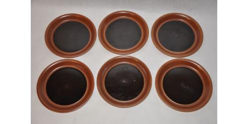 Assiettes à pain SIAL brun chocolat vendues à l'unité