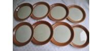 Assiettes à pain en grès signées SIAL