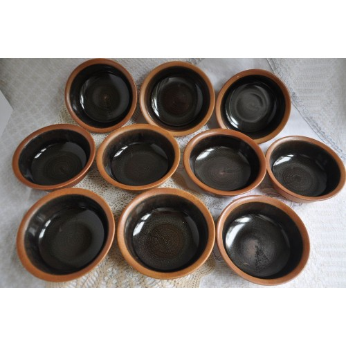 Sial Stoneware Soup Brown Bowls Sold by 2