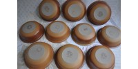 Bols ronds brun chocolat SIAL vendus par paires