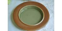 Beurrier Sial en grès vert céladon avec couvercle
