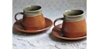 Rares petites tasses de 7,5 cm en grès Sial