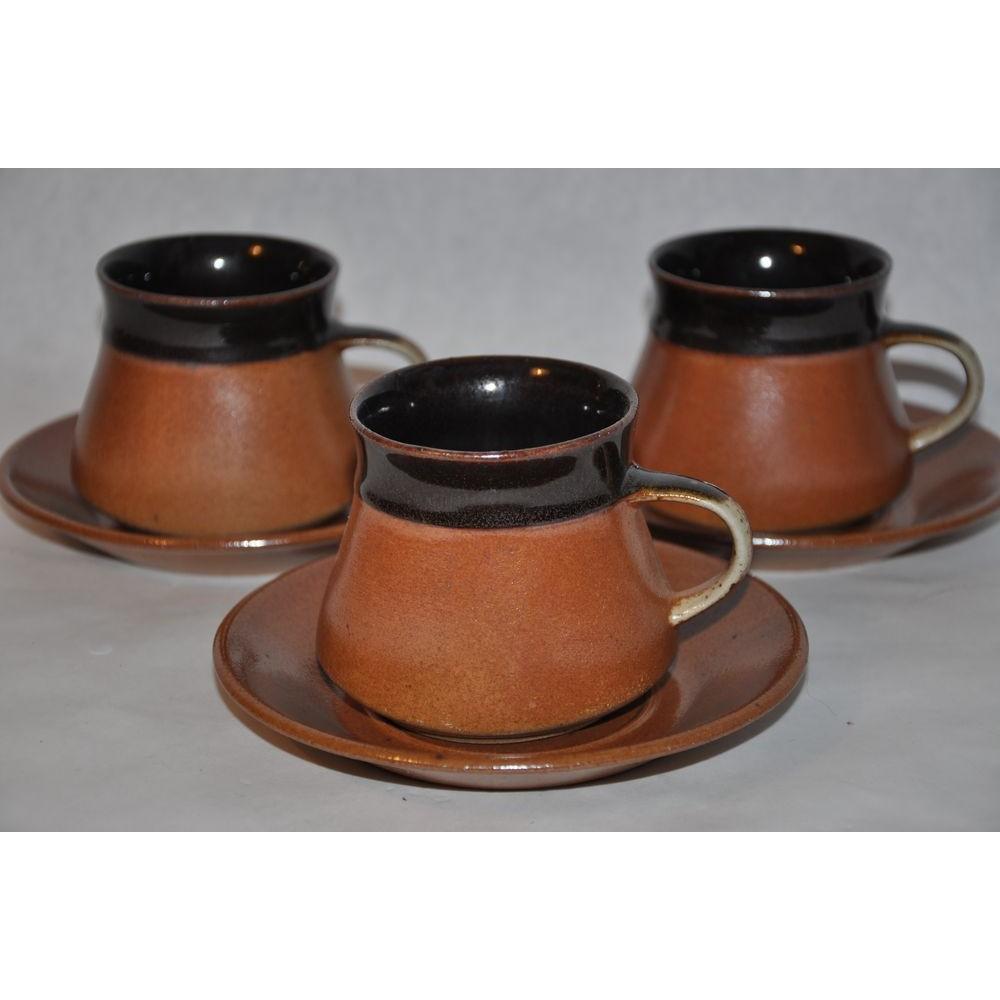 tasses et soucoupes vintage sial poterie c ramique design. Black Bedroom Furniture Sets. Home Design Ideas
