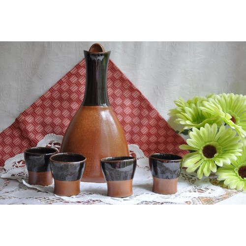 Design Sial Pottery Oval Decanter Set