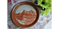 Assiette décorative en grès Maison Marsil