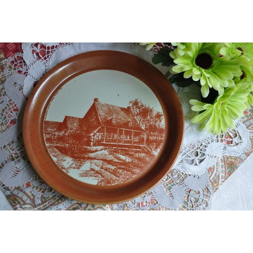 Large Sial Stoneware Decorative Plate