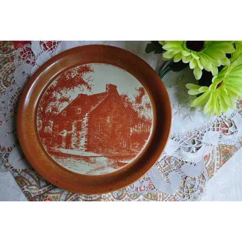Large Sial Stoneware Signed Decorative Plate