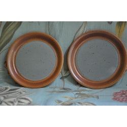 Sial Stoneware Side Bread Rust & Grey Plates