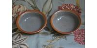 Bols à soupe gris et rouille en grès SIAL