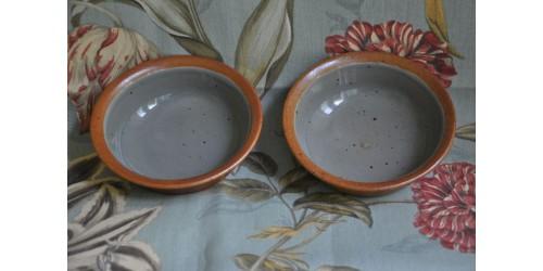 Sial Stoneware Soup/Saladl Rust & Grey Bowls