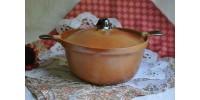 Grande casserole ovale Sial avec couvercle