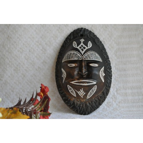 Vintage Clay African Wall Mask