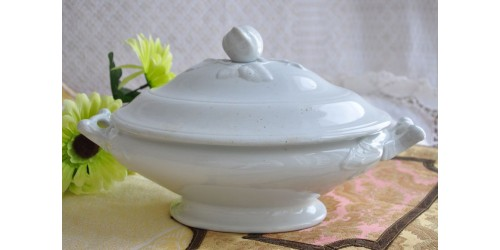 19th Century White Ironstone Serving Dish